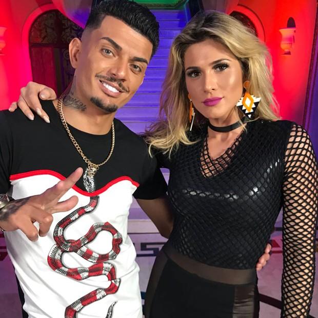 MC Fabinho e a apresentadora Lívia Andrade (Foto: Divulgação)