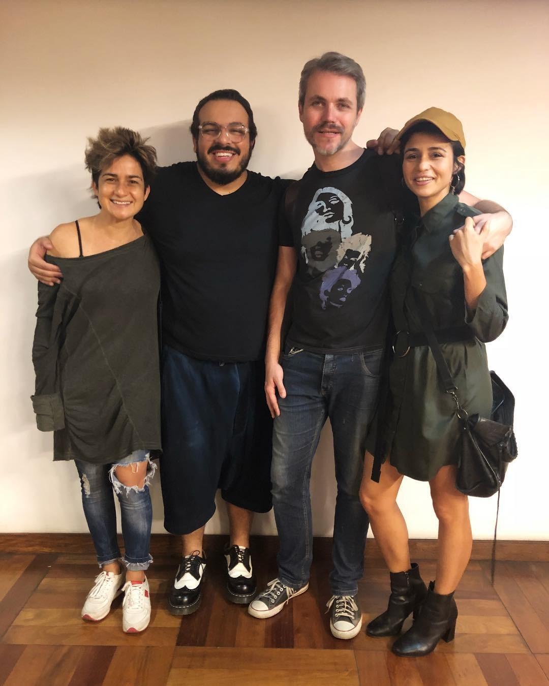 Luis Lobianco, Nanda Costa, Lan Lanh e Lúcio Zandonadi (Foto: Reprodução / Instagram)