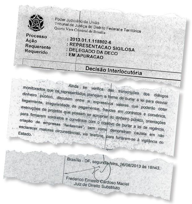 ...e a decisão do juiz que resolveu investigar as irregularidades (Foto: Reprodução)