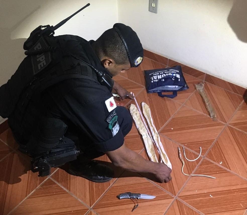 -  Explosivos foram encontrados em uma residência de Pará de Minas nesta quarta-feira  16   Foto: Polícia Militar de Pará de Minas/Divulgação
