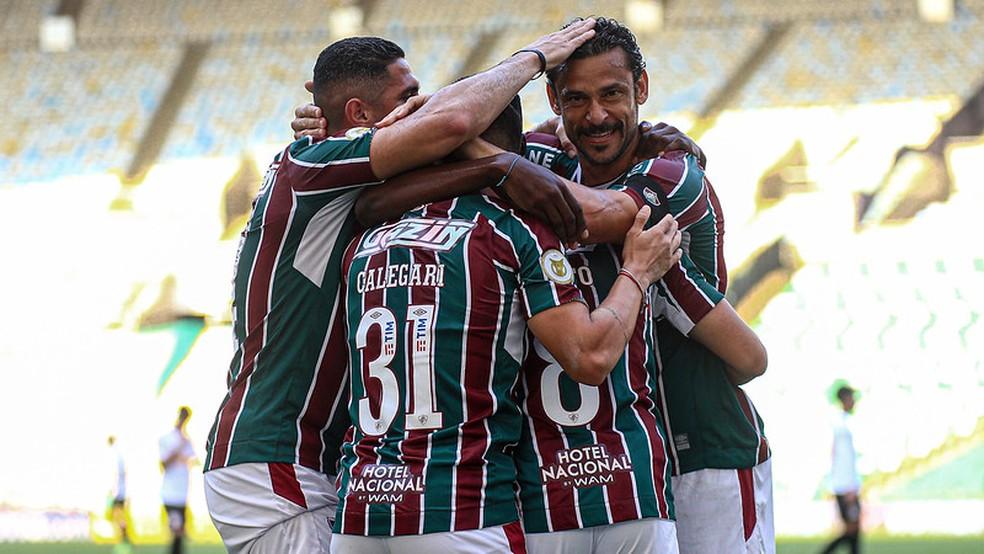 Fluminense abriu o placar na primeira chance de gol que teve — Foto: Lucas Merçon / Fluminense FC