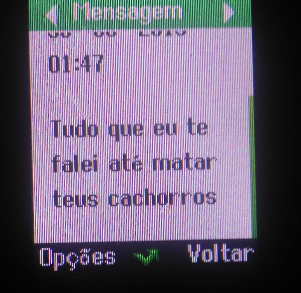 Em outro trecho, ex fala em matar os cachorros da vítima — Foto: Polícia Civil de Mato Grosso/Assessoria