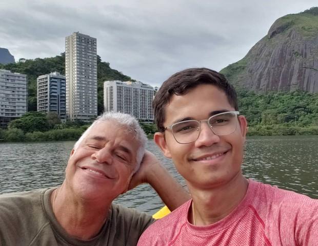 Lulu Santos e o noivo, Clebson Teixeira (Foto: Reprodução/Instagram)