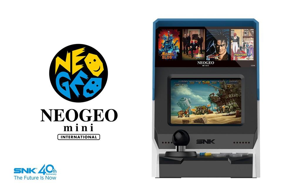 Display do Neo Geo Mini tem apenas 3,5 polegadas (Foto: Divulgação/SNK)