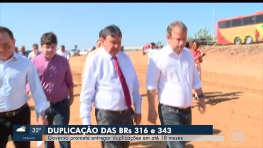 Governador visita obras de duplicação da BR-316 e estipula prazo de 18 meses para conclusão