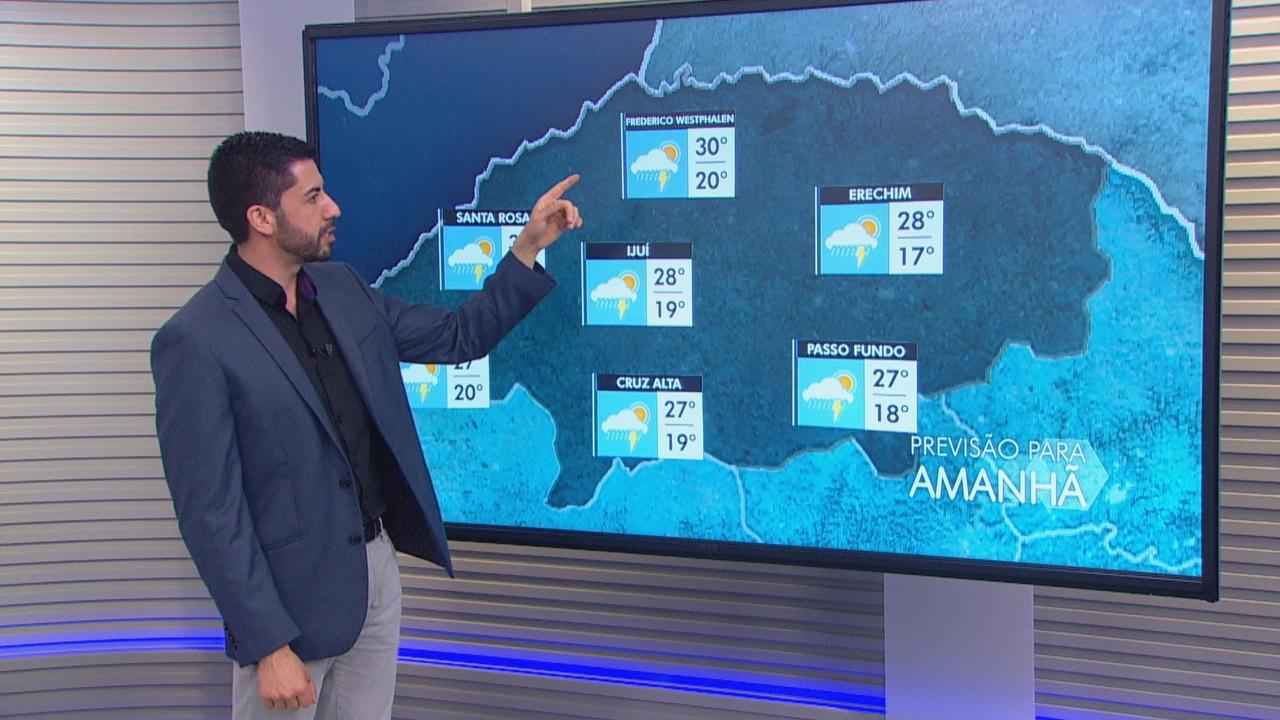 Sexta (27) será marcada por chuva em quase todo RS