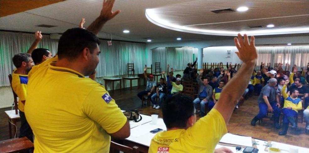 Funcionários do Correio entram em greve por tempo indeterminado — Foto: Sintect SC