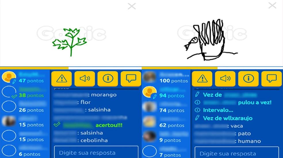 No jogo de desenho Gartic usuários precisam adivinhar o que é desenhado — Foto: Reprodução/Rafael Monteiro
