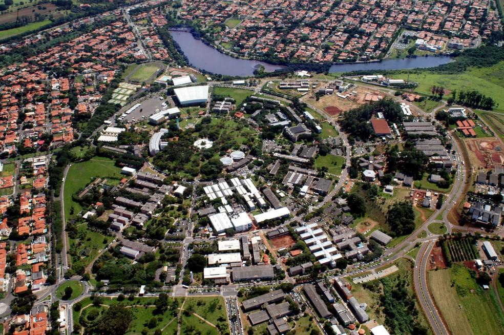Vista aérea da Unicamp, em Campinas — Foto: Antoninho Perri/Ascom/Unicamp