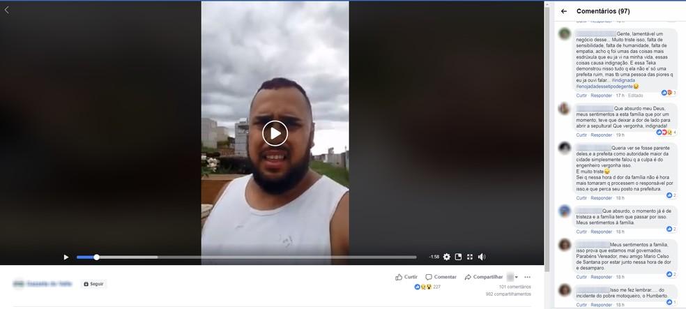 Caso tem repercutido nas redes sociais entre moradores de Piquete — Foto: Reprodução/ Facebook