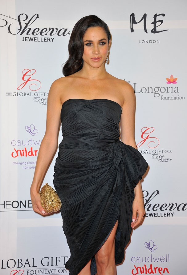 LONDON, ENGLAND - NOVEMBER 19: Meghan Markle attends the London Global Gift Gala at ME Hotel on November 19, 2013 in London, England. (Photo by Gareth Cattermole/Getty Images) (Foto: Getty Images)
