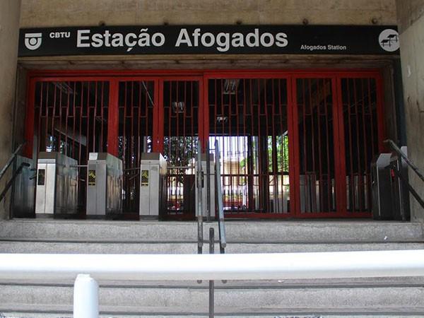 A mulher deu à luz um bebê aos seis meses de gestação, em estação de metrô no Recife (PE) (Foto: Divulgação/ CBTU)