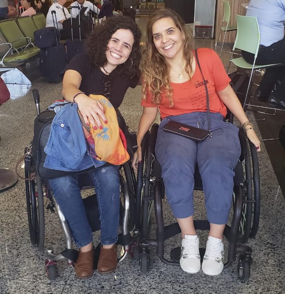 Carla e Mariana, participantes do 'The Wall' se encontram antes da pandemia da COVID-19 — Foto: Arquivo pessoal