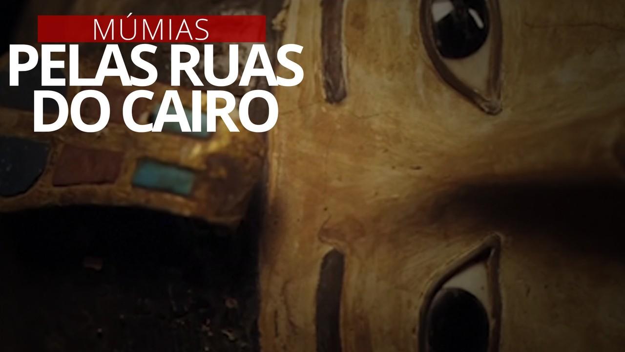 VÍDEO: Transferência de múmias se transforma em parada para o público no Egito