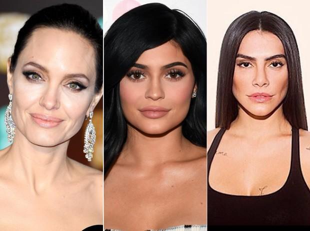 Angelina Jolie, Kylie Jenner e Cleo Pires: donas das bocas todas! (Foto: Reprodução )