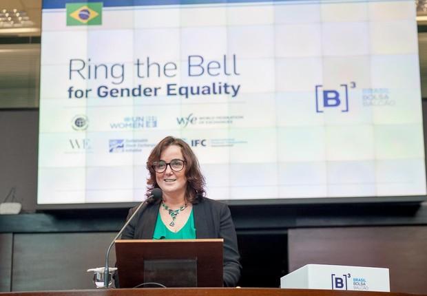 Denise Hills, Presidente Rede Brasil do Pacto Global e Superintendente de Sustentabilidade e Negócios Inclusivos do Itaú. (Foto: Divulgação B3)