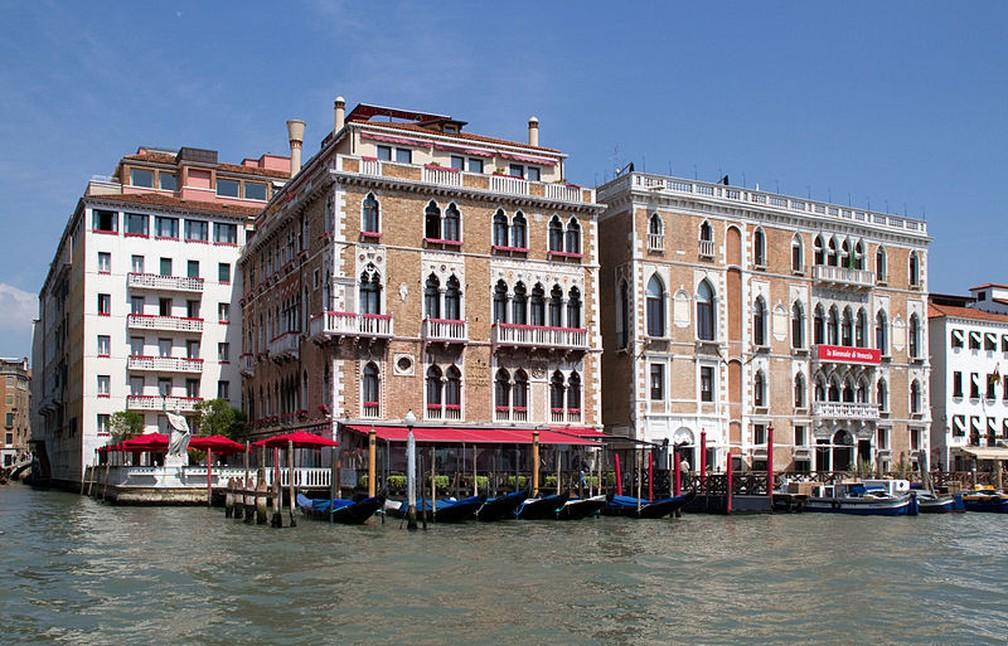 Hotel Bauer Palazzo, em Veneza, com vista do Grande Canal, foto de maio de 2012 — Foto: Tony Hisgett/CC BY 2.0