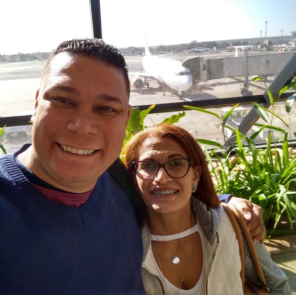 Edilson Donizete e Lucineide de Souza Goes — Foto: Reprodução