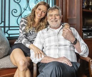 Fernanda de Freitas e José de Abreu em 'Um lugar ao Sol'   Fábio Rocha/Globo