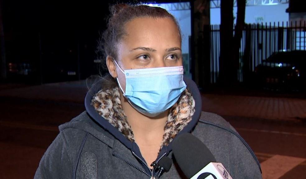 'Aliviada', diz Alessandra Dranka, mãe do garoto de 2 anos, após o resgate em Campinas — Foto: Reprodução/EPTV