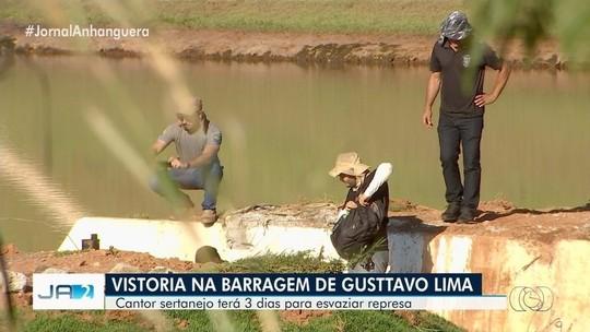 Polícia manda Gusttavo Lima esvaziar represa que está em risco