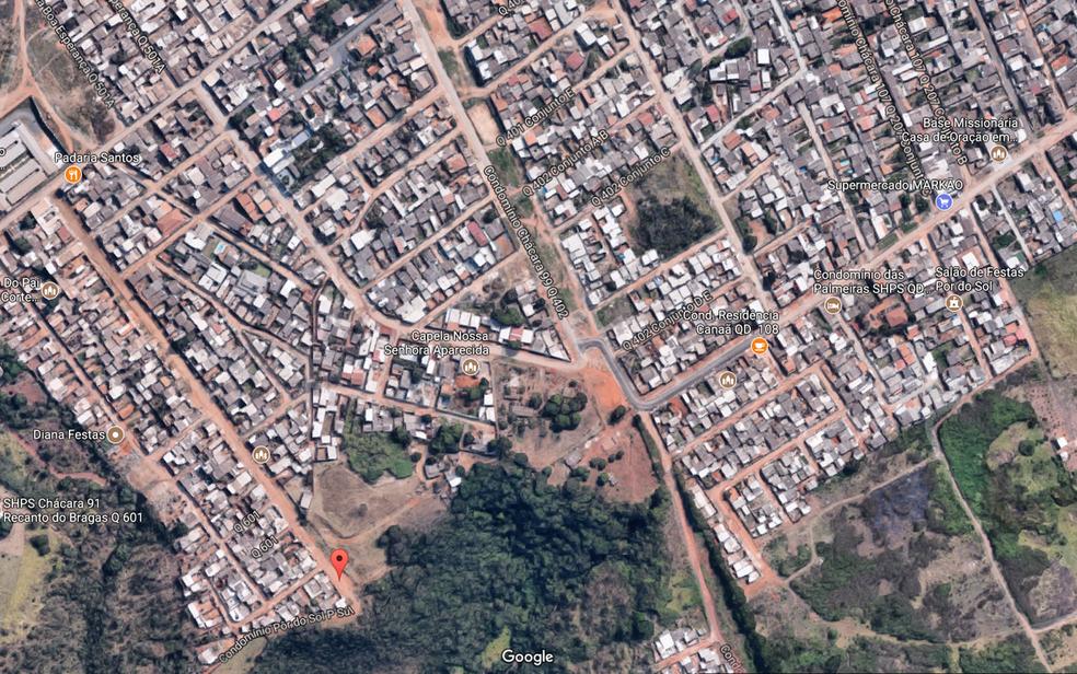 Imagem do Condomínio Pôr do Sol, em Ceilândia (Foto: Reprodução/Google Maps)