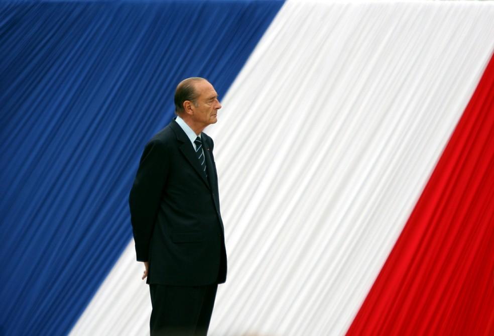 Imagem de Jacques Chirac feita em 2006, durante uma cerimônia em Paris — Foto: Charles Platiau/Files/File Photo