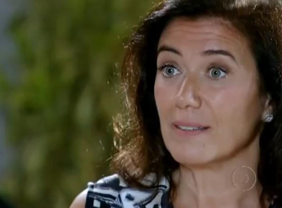 Griselda acusa Tereza de ser cúmplice nos crimes de Ferdinand em 'Fina Estampa' — Foto: Globo