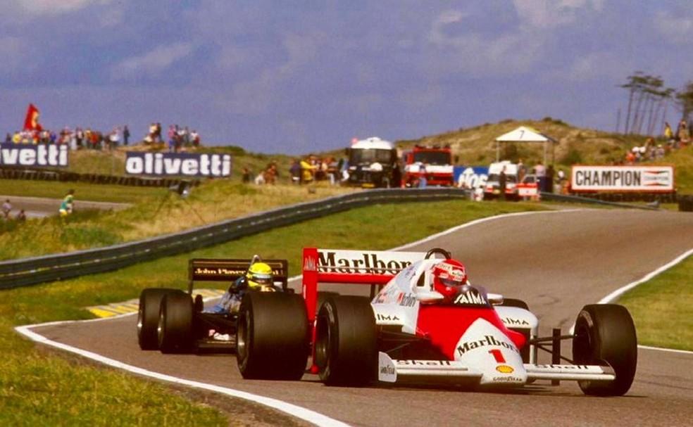 Última corrida de Fórmula 1 em Zandvoort teve pódio estrelado com Lauda,  Prost e Senna | f1 memória | ge