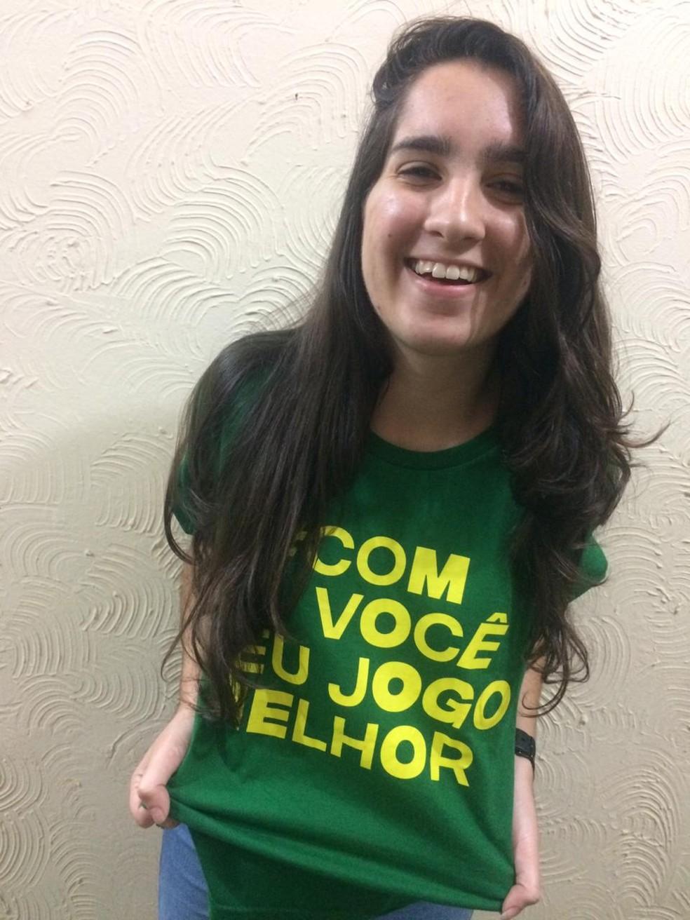 Erika Farias Oliveira, de Camaçari, afirma que a valorização dos jogos da Seleção Brasileira na Copa do Mundo Feminina é uma conquista — Foto: Grupo Boticário/Divulgação