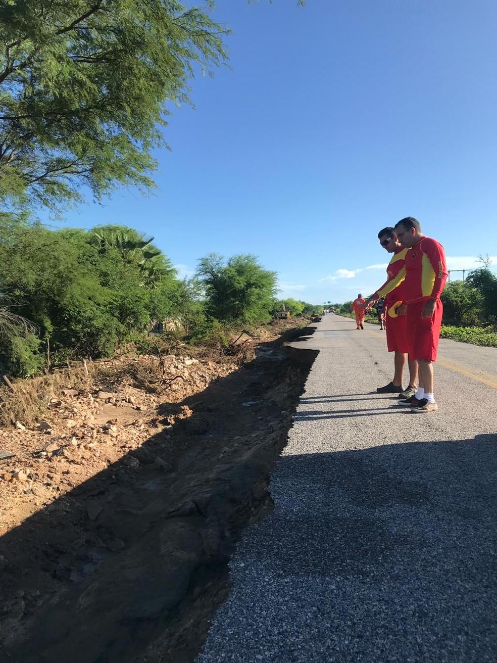 Após rompimento de barragens no RN, Bombeiros mantêm alerta e reforçam monitoramento — Foto: Corpo de Bombeiros