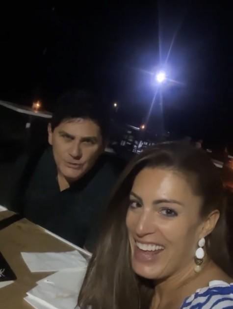 Elaine Mickely e Cesar Filho (Foto: Reprodução)