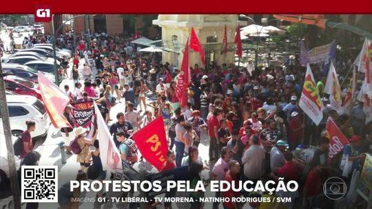 G1 em 1 Minuto: Cidades têm atos em defesa da educação e contra a reforma da Previdência