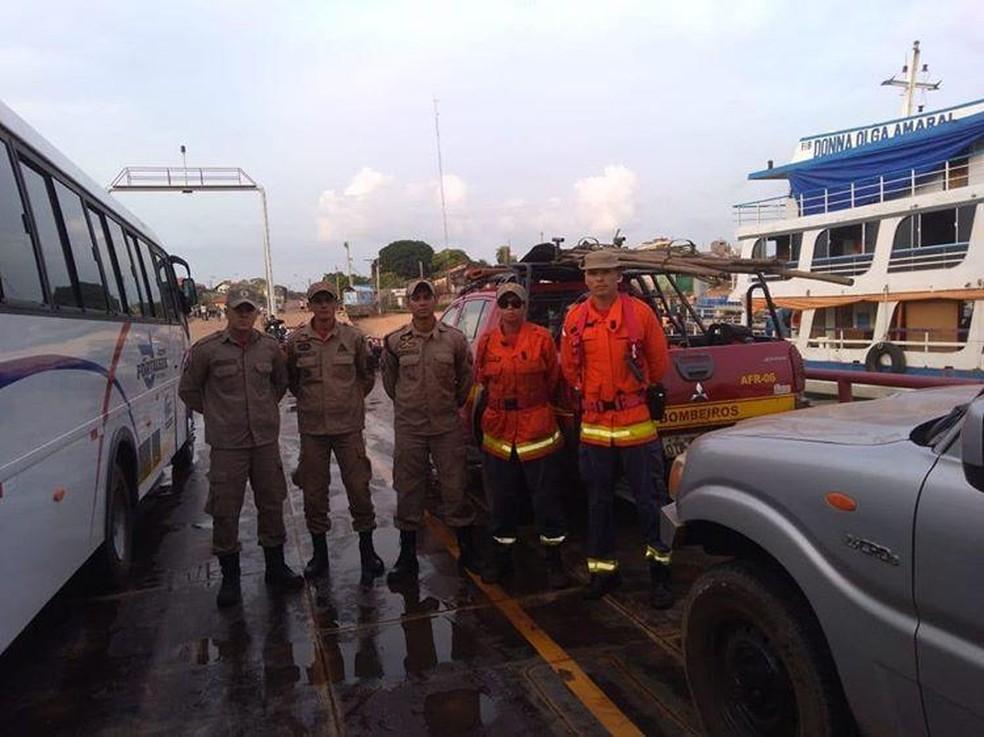 Equipe do 4ºGBM seguiu neste domingo (6) para Monte Alegre — Foto: 4ºGBM/Divulgação