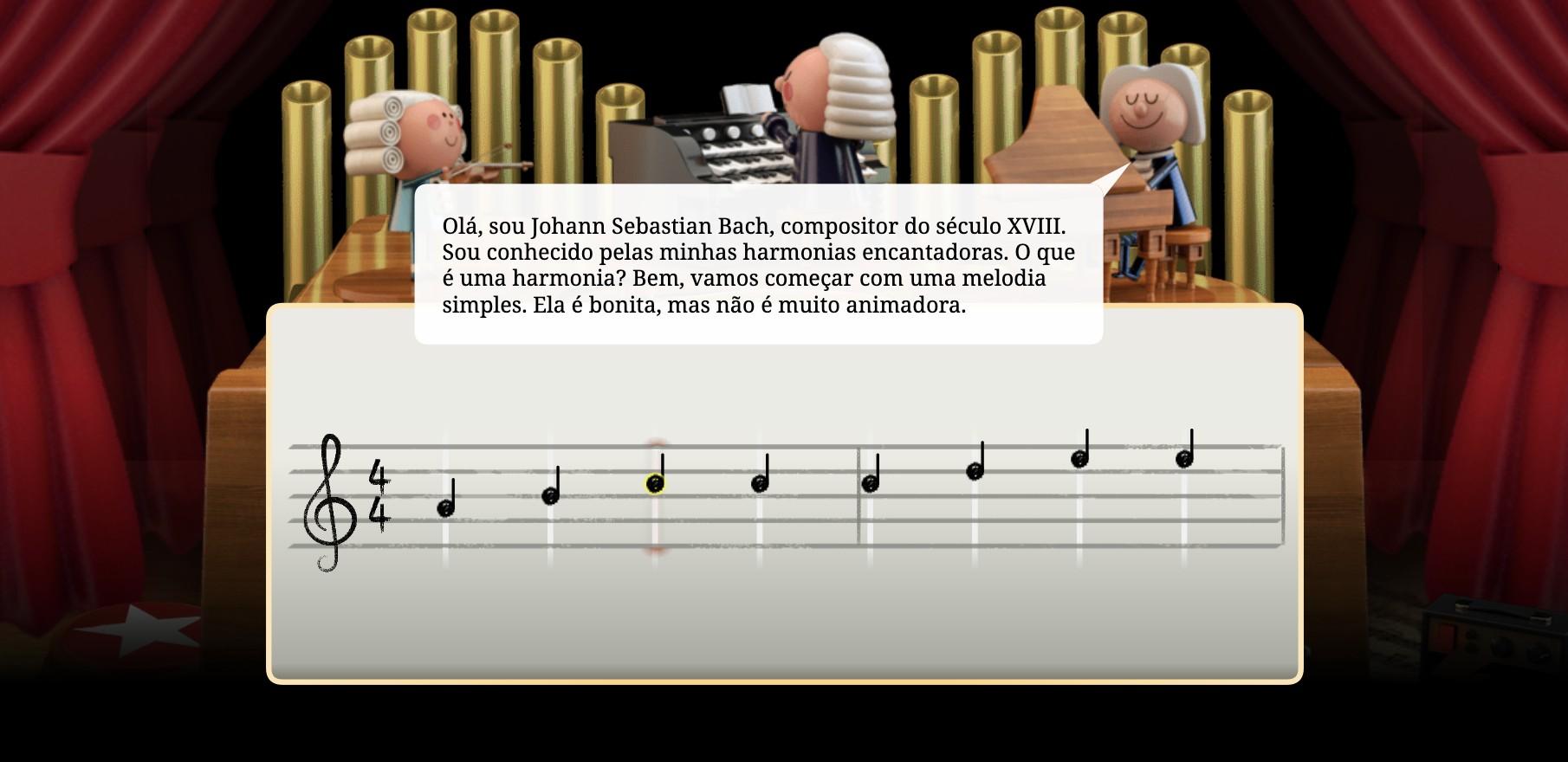 Introdução do Doodle em homenagem ao músico alemão (Foto: Google/ Reprodução)