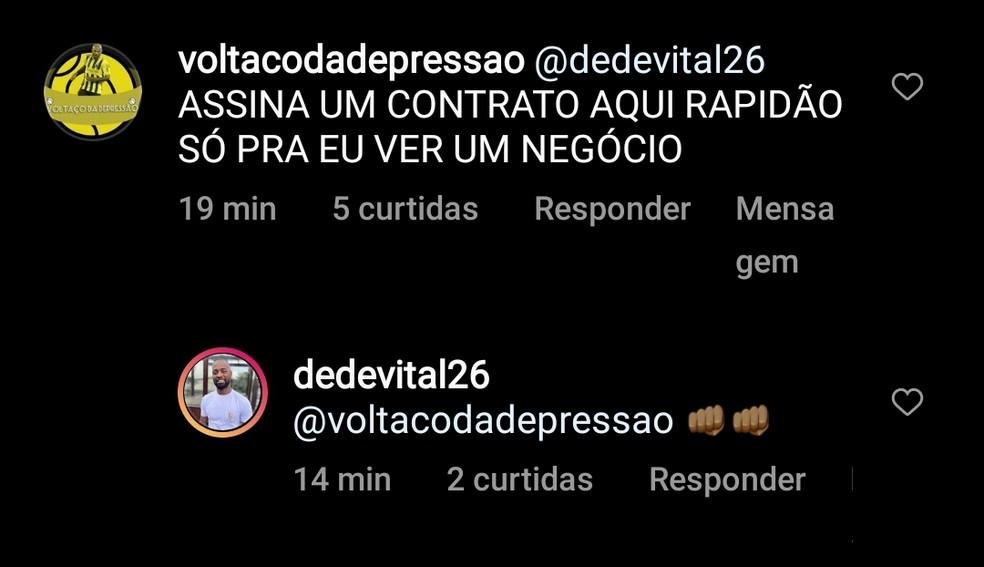 Torcida pede Dedé no Volta Redonda — Foto: Divulgação/Redes Sociais
