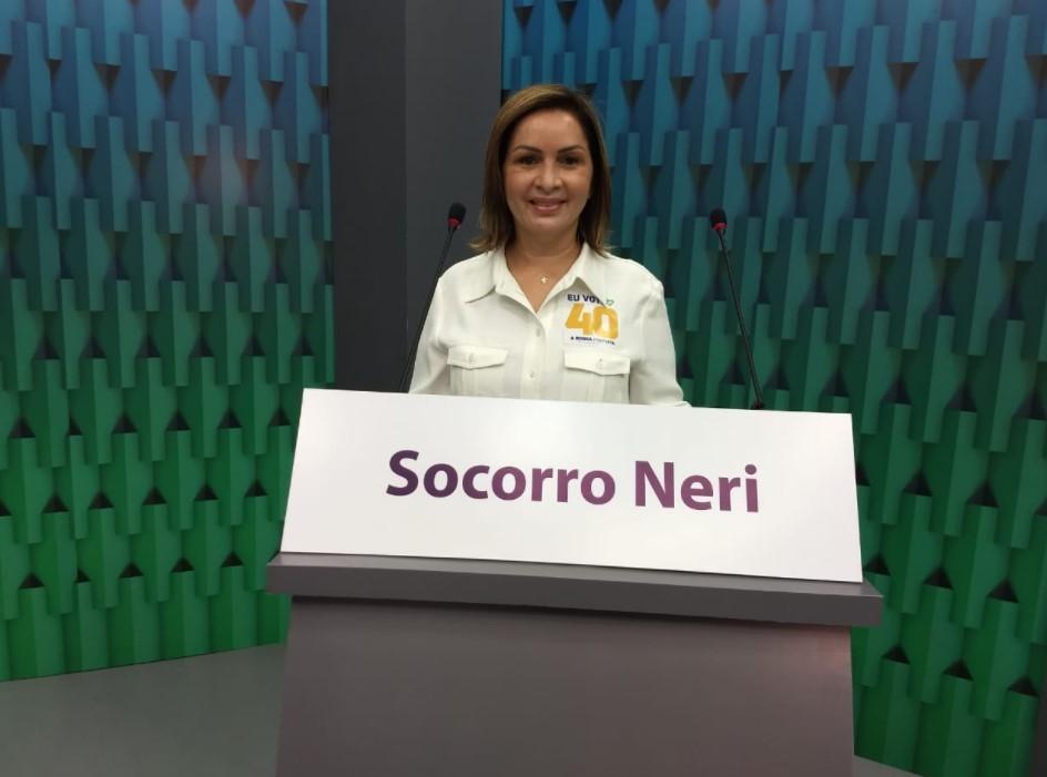 Com ausência de Tião Bocalom no debate, candidata Socorro Neri é entrevistada na Rede Amazônica Acre
