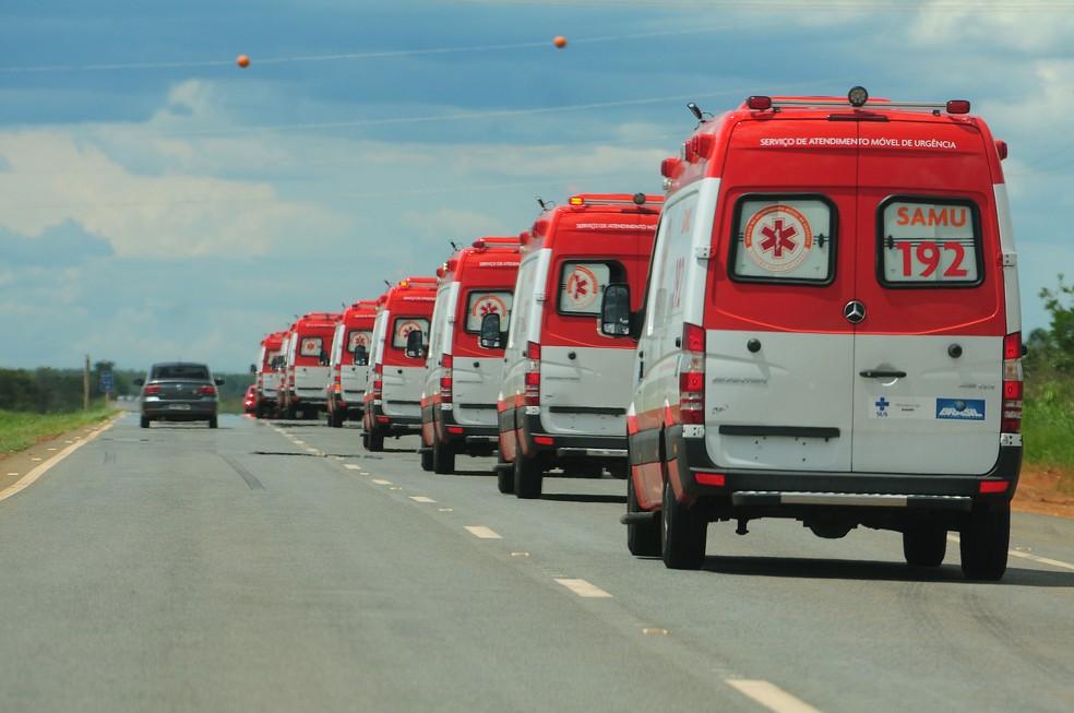 Ambulâncias do Samu no Distrito Federal — Foto: Pedro Ventura/Agência Brasília