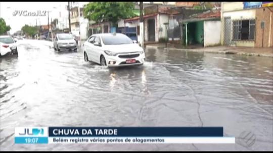 Em Belém, chuva desta sexta foi cinco vezes acima do esperado, segundo prefeitura