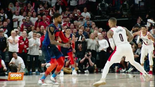 Lillard, do Portland Trail Blazers, faz cesta do meio da quadra e garante vitíória na NBA