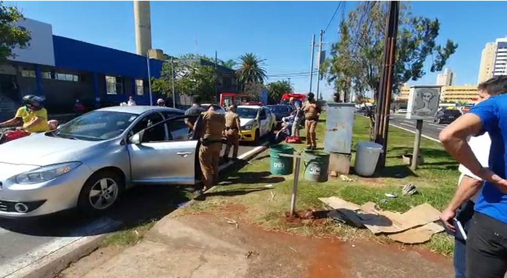 Motorista agressor é oficial de justiça, segundo a Polícia Militar — Foto: Eduardo Lhamas/RPC