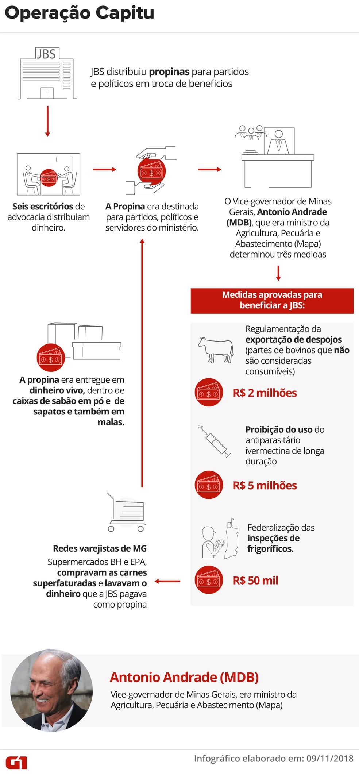 Arte com suposto esquema de lavagem de dinheiro investigado pela Polícia Federal na Operação Capitu — Foto: Juliane Monteiro e Igor Estrella/G1