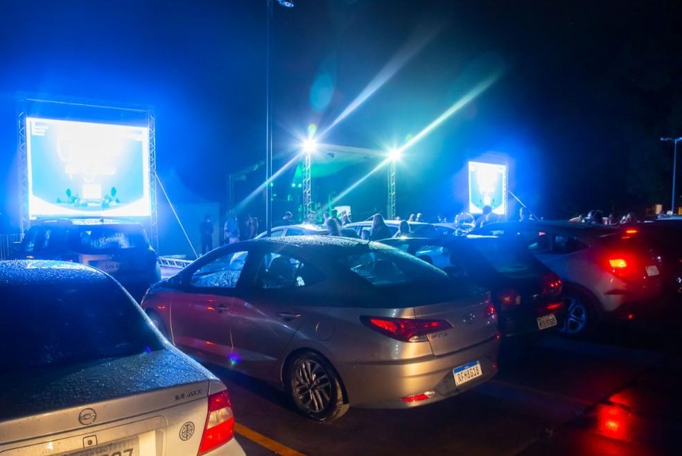 Evento estilo cinema drive-in — Foto: Divulgação