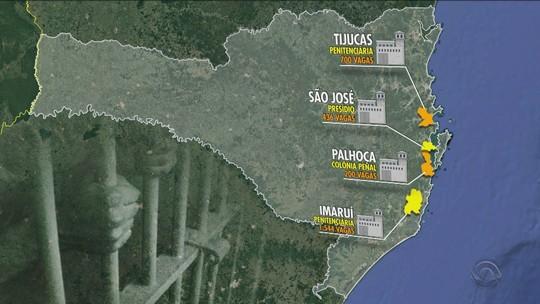 SC tem 4 projetos para tentar resolver falta de vagas no Complexo Penitenciário de Florianópolis