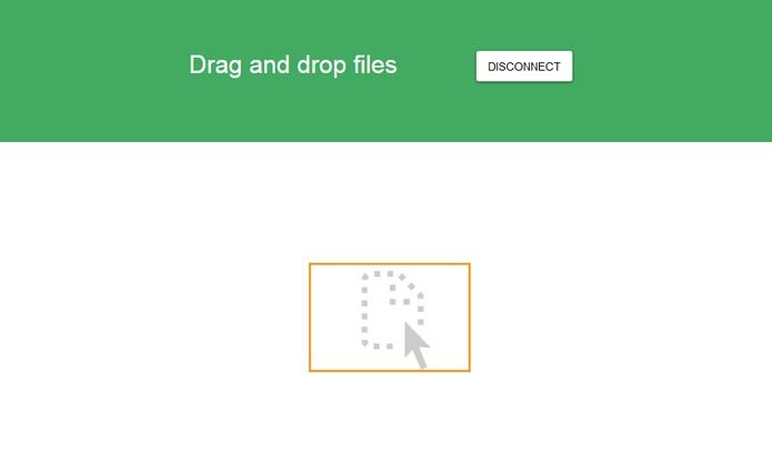 Arraste os arquivos para dentro do navegador (Foto: Reprodução/Barbara Mannara)