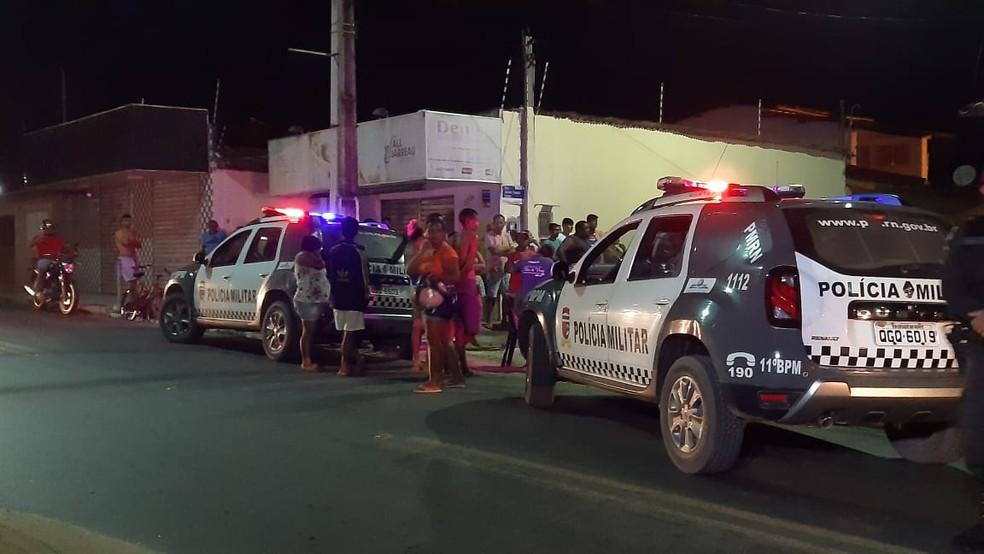 Ocorrência foi atendida por militares do 11º Batalhão — Foto: Sérgio Henrique Santos