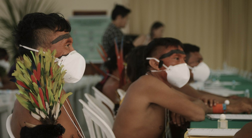 Os casos de indígenas infectados com Covid-19 chega a 1.640 — Foto: Pieter Van Eecke/Clin d'Oeil Films