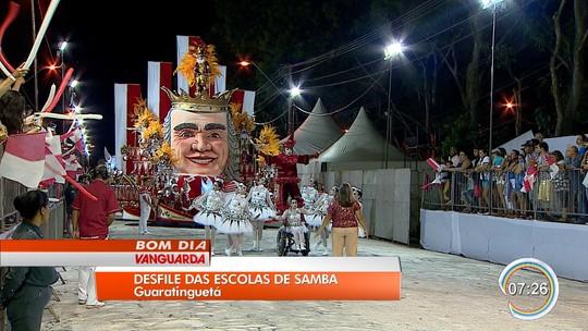 Guaratinguetá retoma tradicional desfile de escolas de samba após três anos