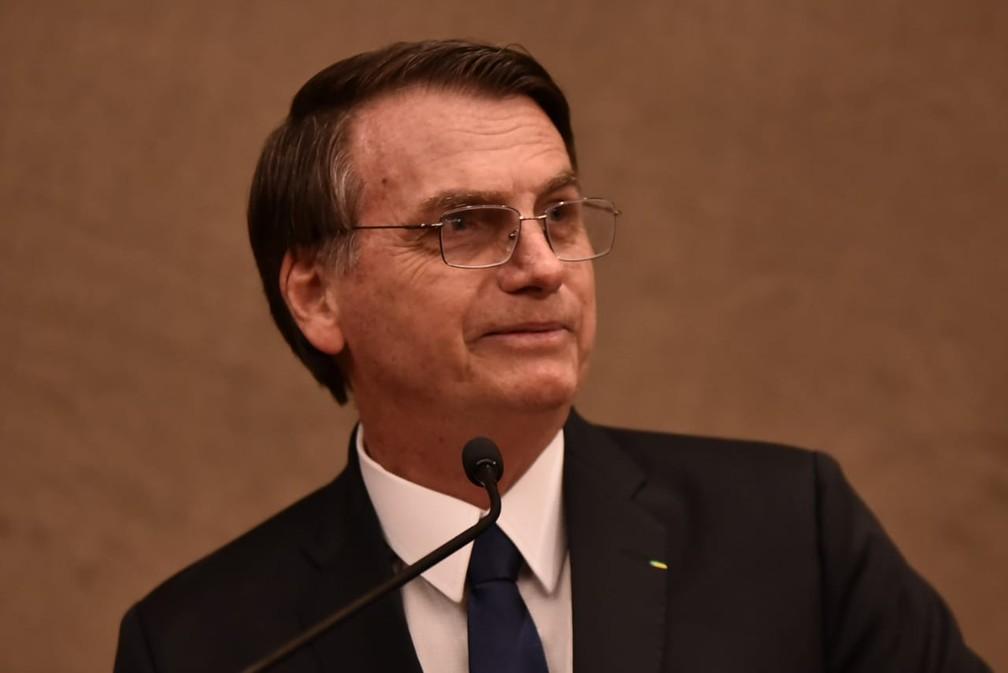 Jair Bolsonaro durante cerimônia de diplomação no plenário do TSE — Foto: Rafael Carvalho, Governo de Transição