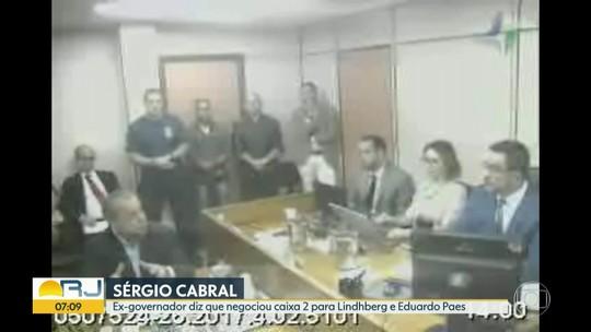 Sérgio Cabral diz que intermediou caixa 2 para Lindbergh Farias e Eduardo Paes